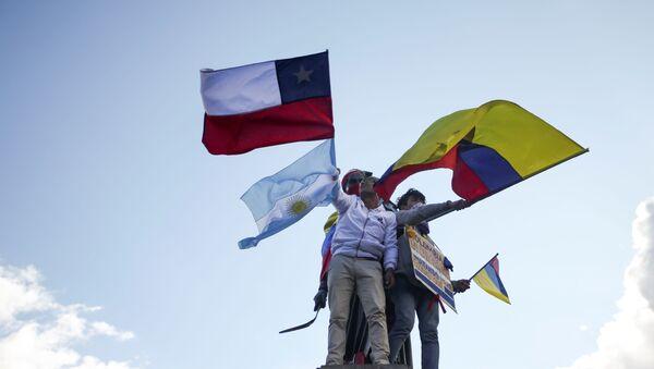 Protestas en Colombia - Sputnik Mundo