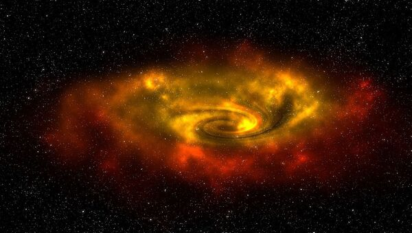 Una galaxia, imagen referencial - Sputnik Mundo