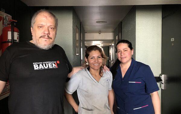 Trabajadores del Hotel Bauen - Sputnik Mundo