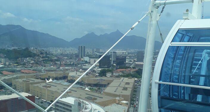 Vista desde la 'Rio Star', la noria más grande de Latinoamérica