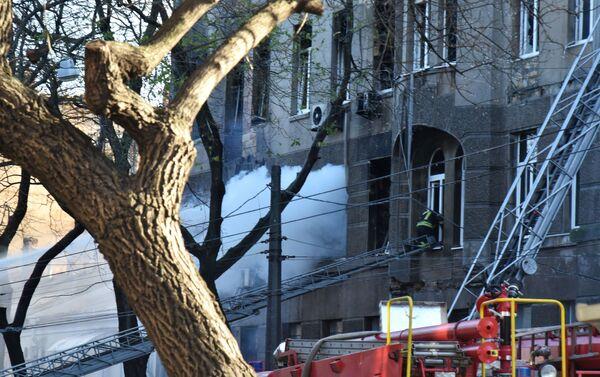 Incendio en un instituto de Odesa, Ucrania  - Sputnik Mundo