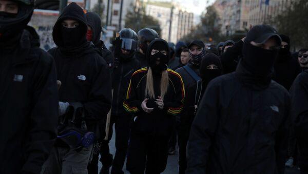 Protestas en Grecia - Sputnik Mundo