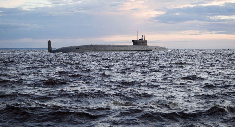 Un submarino nuclear ruso de la clase Borei