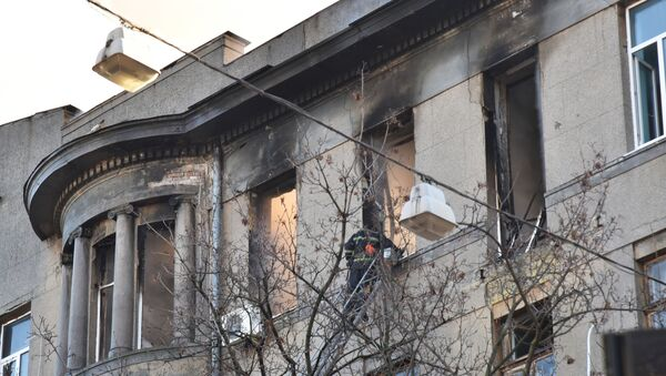 Instituto en Odesa (Ucrania) tras el incendio - Sputnik Mundo