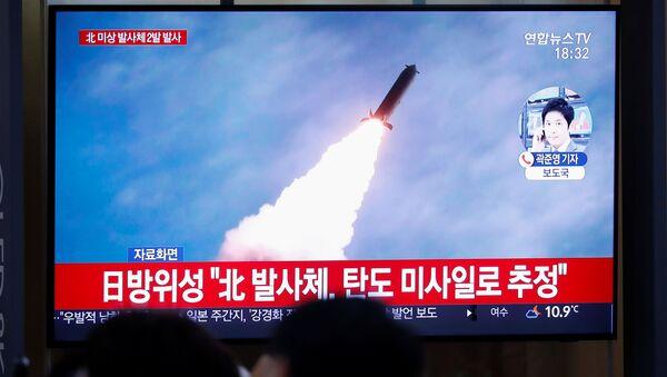 Lanzamiento de un misil norcoreano - Sputnik Mundo