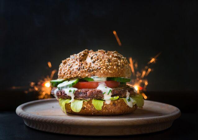 Una hamburguesa vegetariana