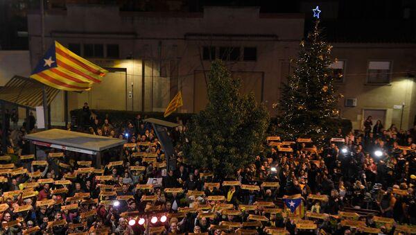 Protestas en Barcelona durante la temporada de Navidad (archivo) - Sputnik Mundo