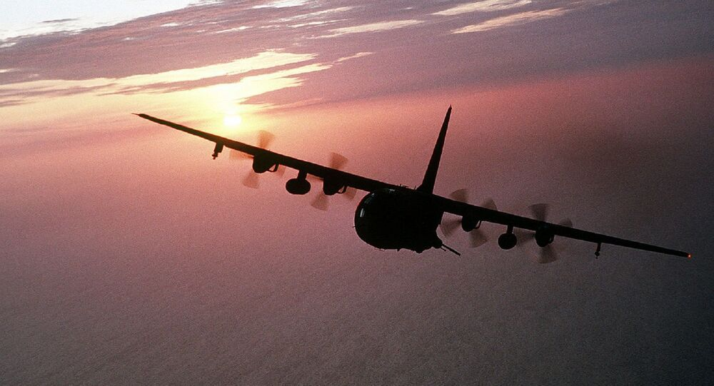Un avión Hercules AC-130
