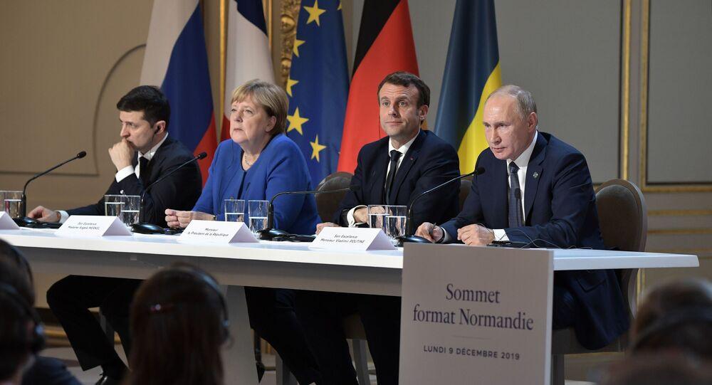 La Cumbre del Cuartero de Normandía en París