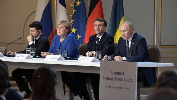 La Cumbre del Cuartero de Normandía en París - Sputnik Mundo