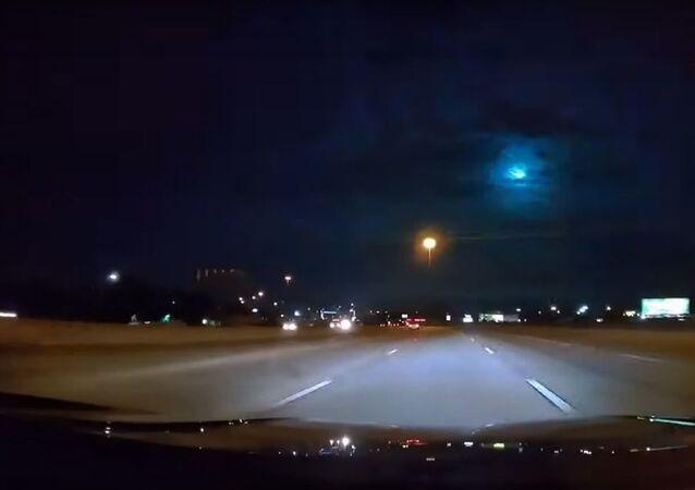 La caída de un meteoro en Austin