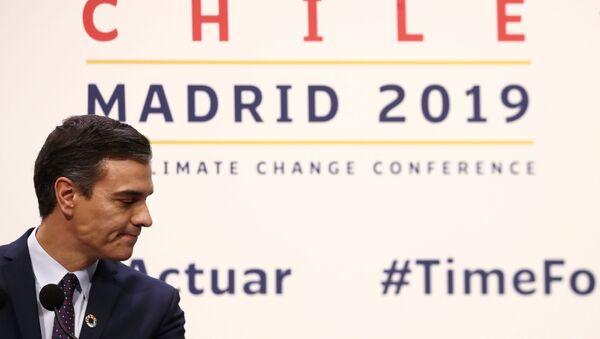 Pedro Sánchez, presidente en funciones del Gobierno de España - Sputnik Mundo