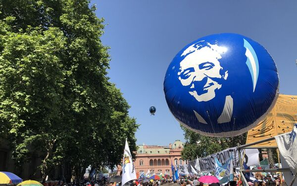 El recuerdo del expresidente Néstor Kirchner estuvo presente - Sputnik Mundo