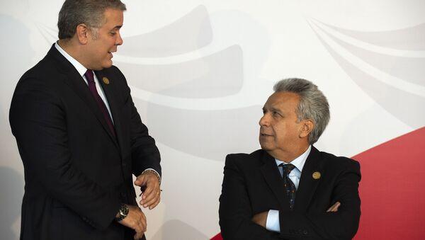 El presidente de Colombia, Iván Duque, y su homólogo de Ecuador, Lenín Moreno - Sputnik Mundo