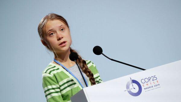 Greta Thunberg, activista sueca, en la COP25 - Sputnik Mundo