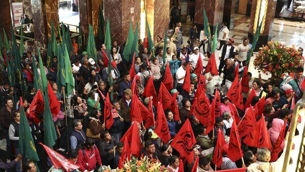 Manifestación de protesta en el Museo del Palacio de Bellas Artes  - Sputnik Mundo