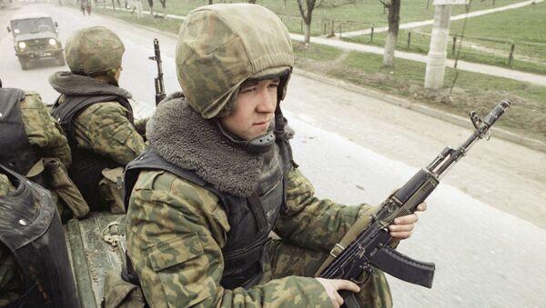 Soldado ruso en Chechenia - Sputnik Mundo