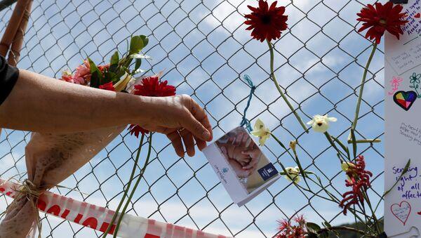 Un memorial a las víctimas de la erupción del volcán en Nueva Zelanda - Sputnik Mundo