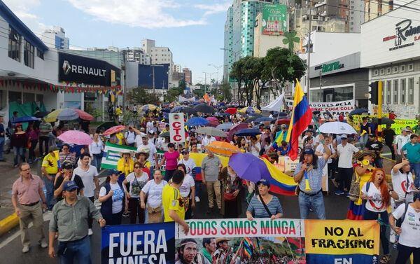Movilización en Santander, Colombia - Sputnik Mundo
