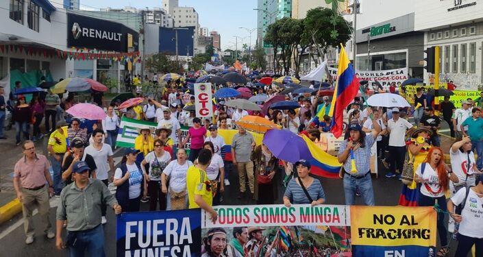 Movilización en Santander, Colombia