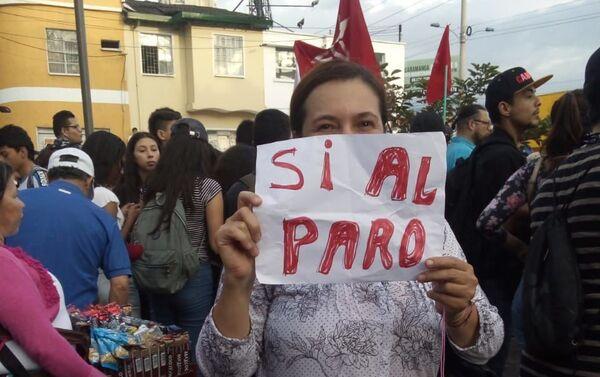 'Sí al paro' - marcha en contra de las medidas de Iván Duque, en Colombia - Sputnik Mundo