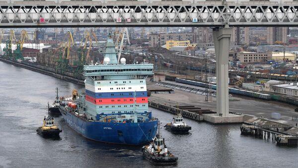 El rompehielos nuclear ruso Arktika - Sputnik Mundo