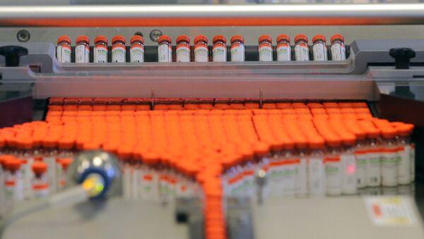 Producción de medicamentos en la planta de Geropharm - Sputnik Mundo