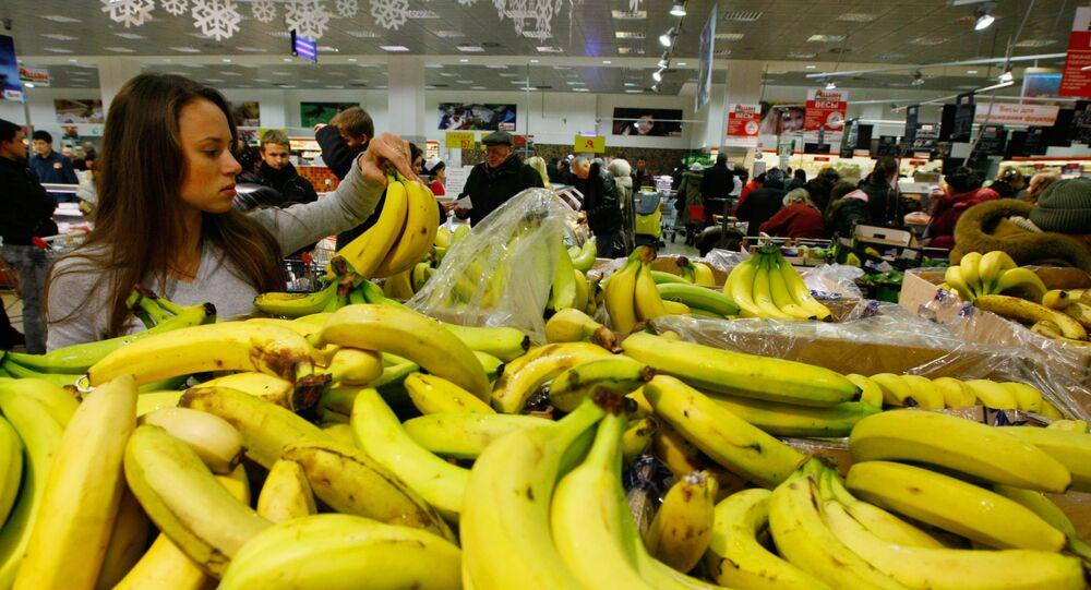 Bananos en un supermercado ruso (archivo)