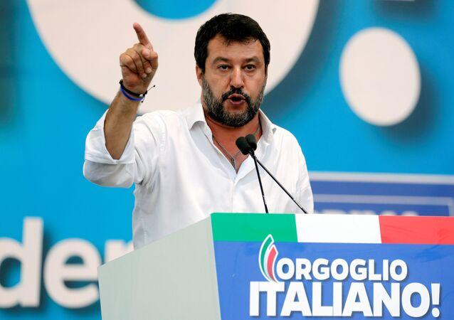 Matteo Salvini, el líder del partido Liga y el político más popular de Italia
