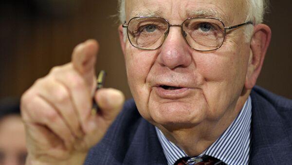 Paul Volcker, expresidente del banco central de EEUU  - Sputnik Mundo