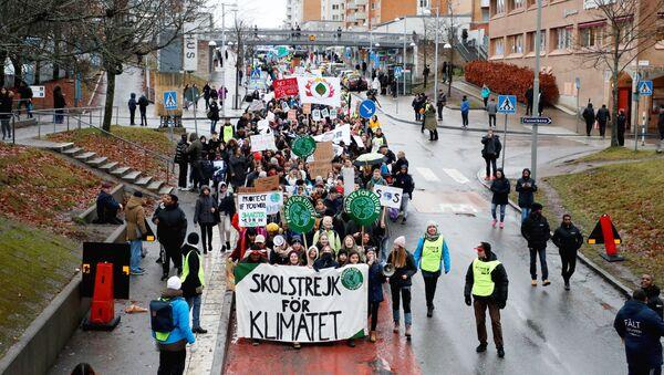 Una manifestación de Fridays for the Future en Estocolmo - Sputnik Mundo