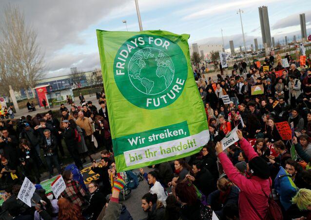 Activistas climáticos en Madrid