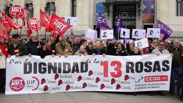 Descendientes de las víctimas del franquismo manifiestan por restablecer la justicia histórica en el caso de 13 Rosas - Sputnik Mundo