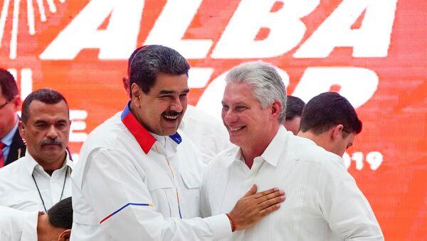 El presidente de Venezuela, Nicolás Maduro y presidente de Cuba, Miguel Díaz-Canel, durante la XVII Cumbre del ALBA-TCP - Sputnik Mundo