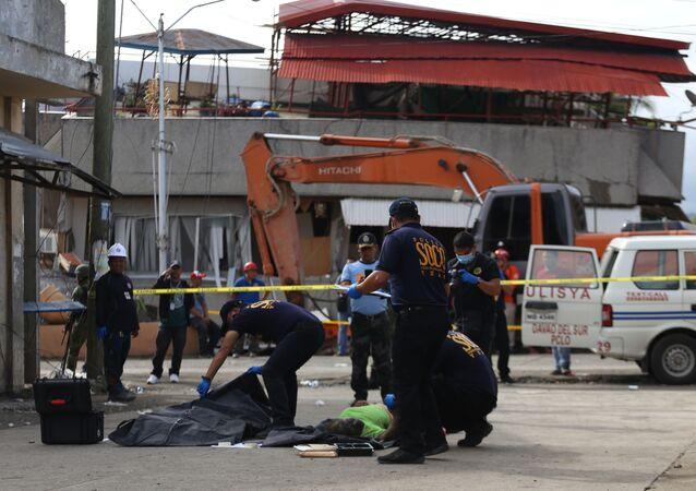 Las consecuencias del terremoto en Padada, Filipinas
