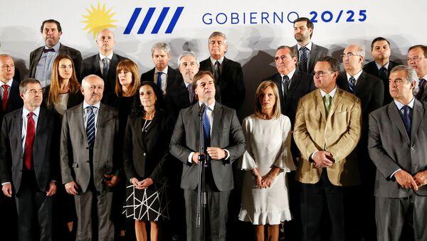 Luis Lacalle Pou, el presidente de Uruguay, anuncia su gabinete - Sputnik Mundo