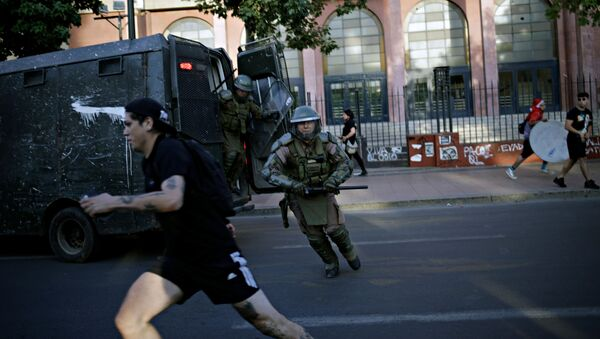 Disturbios en Chile - Sputnik Mundo