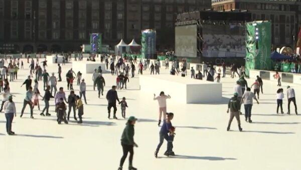 Pista de patinaje ecológica en Ciudad de México - Sputnik Mundo
