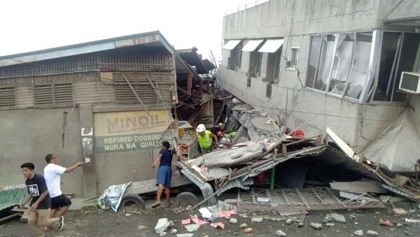 Consecuencias del terremoto en Filipinas - Sputnik Mundo