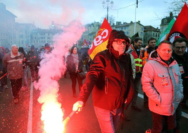Las protestas de sindicatos obreros en Francia