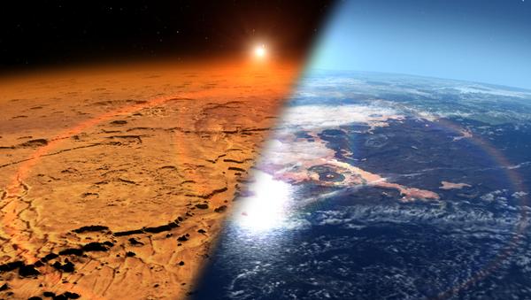 Marte con ambiente frío y seco frente a un Marte con agua y atmósfera más espesa - Sputnik Mundo