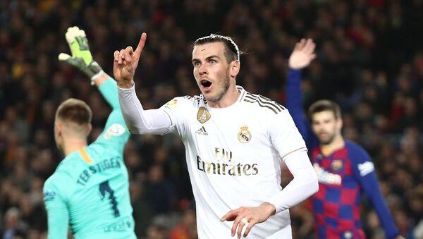 Gareth Bale, delantero del Real Madrid, tras marcar un gol de fuera de juego contra el Barcelona en el Camp Nou, el 18 de diciembre de 2019 - Sputnik Mundo