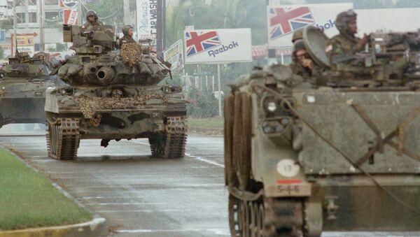Tanques de EEUU en Panamá, 1989 - Sputnik Mundo