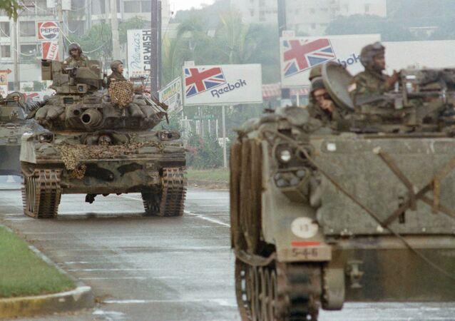Tanques de EEUU en Panamá, 1989