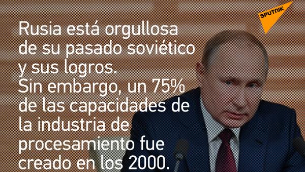 El presidente ruso, Vladímir Putin, comenta el pasado soviético de Rusia - Sputnik Mundo