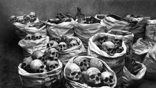 Cráneos de las víctimas del desastre de Bhopal - Sputnik Mundo