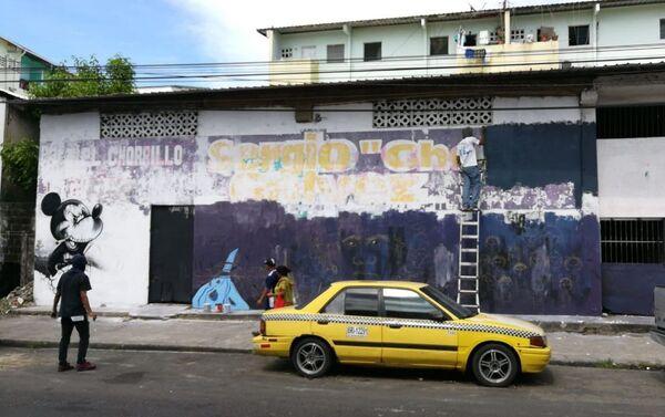 Mickey Mouse maléfico - mural en El Chorrillo, ciudad de Panamá - Sputnik Mundo