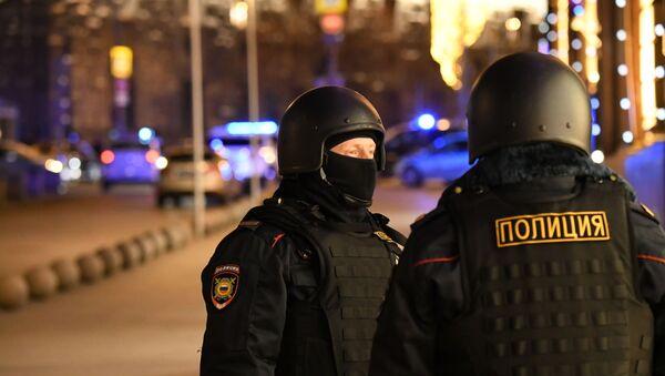 Agentes policiales en el centro de Moscú  - Sputnik Mundo
