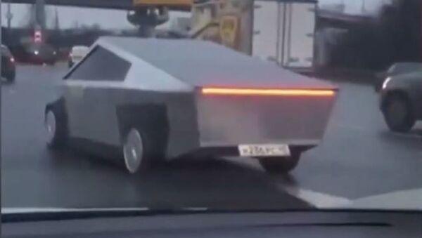 'Cybertruck' avistado en Moscú - Sputnik Mundo