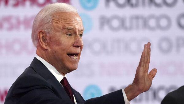 Joe Biden, precandidato demócrata a la presidencia y  vicepresidente de EEUU - Sputnik Mundo